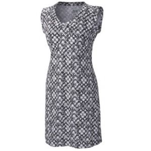 Columbia Rocky Ridge Dress Black and White Dress M